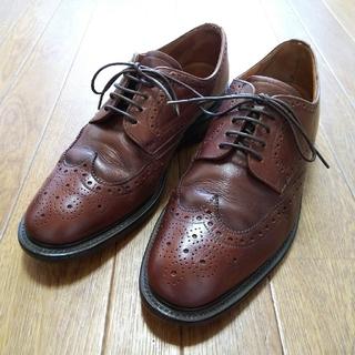 サンダース(SANDERS)のチャールズ ホレル ウィングチップ 革靴 ドレスシューズ ブラウン 27cm (ドレス/ビジネス)
