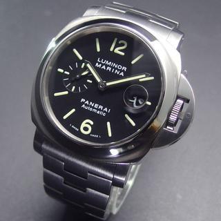 パネライ(PANERAI)の美品 K番 パネライ PAM00299 ルミノールマリーナ 44㎜ メタルベルト(腕時計(アナログ))