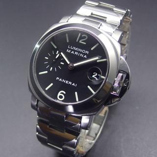 パネライ(PANERAI)の美品 2020年OH済み パネライ D番 PAM00050 ルミノールマリーナ (腕時計(アナログ))