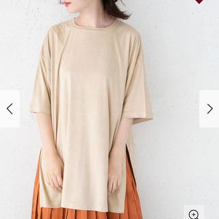 ケービーエフ(KBF)のスエードBIGTシャツ(Tシャツ(半袖/袖なし))