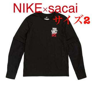 サカイ(sacai)のNIKE×sacai ロングスリーブ Tシャツ 受注 サイズM ドッキングシャツ(Tシャツ/カットソー(七分/長袖))