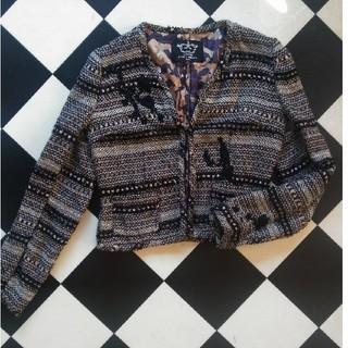 ドゥロワー(Drawer)のRyuzo Nakata ツイードジャケット(ノーカラージャケット)