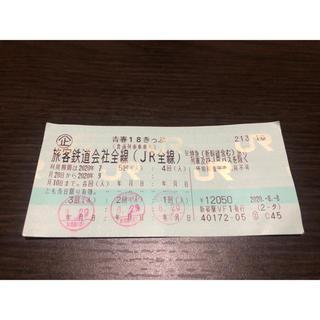 2020夏期 青春18きっぷ残り2回(2020年9月10日迄) 返却不要(鉄道乗車券)