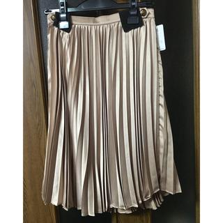 ルシェルブルー(LE CIEL BLEU)のサテンプリーツスカート(ひざ丈スカート)