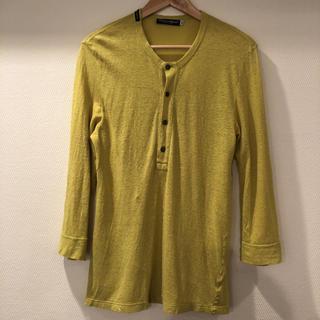 ドルチェアンドガッバーナ(DOLCE&GABBANA)のDOLCE&GABBANA ヘンリーネックカットソー 黄色(Tシャツ/カットソー(七分/長袖))