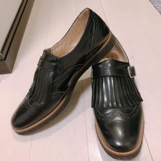 マーガレットハウエル(MARGARET HOWELL)の美品 マーガレットハウエル MHL ローファー 革靴(ローファー/革靴)