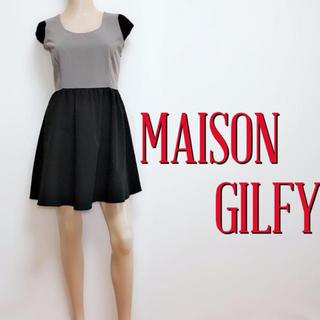 MAISON GILFY - いつでも♪メゾンギルフィー バイカラー 切り替えワンピース♡バックス マウジー