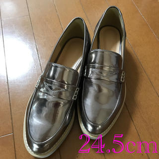 アーバンリサーチ(URBAN RESEARCH)の KBF サイズ38 24.5cm  ローファー ブロンズ色(ローファー/革靴)