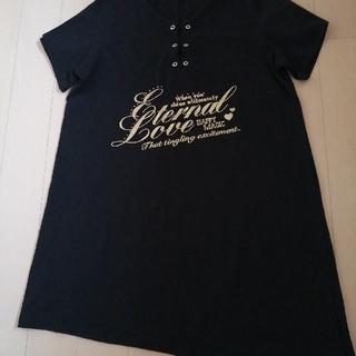 ニッセン(ニッセン)のロングトップス 3L(Tシャツ(半袖/袖なし))