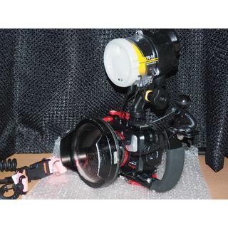 オリンパス(OLYMPUS)の水中カメラ 水中ストロボ ワイドコンバージョンレンズフルセット(マリン/スイミング)