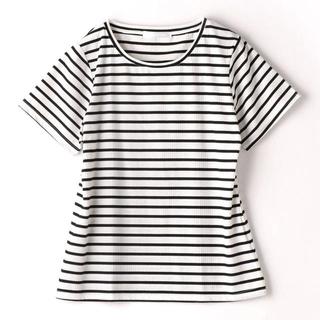 ニコル(NICOLE)の新品 NICOLE テレコボーダー Tシャツ(Tシャツ(半袖/袖なし))