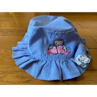 サンリオ(サンリオ)のハローキティ 女児 日除け付き帽子 52㎝(帽子)