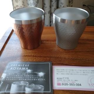 プルミエール(PREMIERE)のリュクス メタルサーモペアカップ(グラス/カップ)