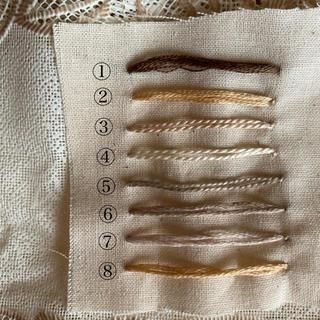 ボンポワン(Bonpoint)の刺繍糸 (お色確認)(生地/糸)