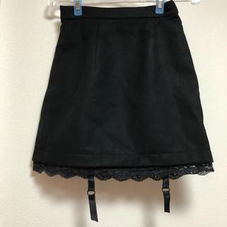 イートミー(EATME)のEATME 台形スカート ブラック(ミニスカート)