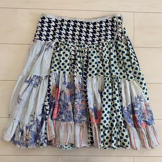 ツモリチサト(TSUMORI CHISATO)のツモリチサト スカート シルク(ひざ丈スカート)