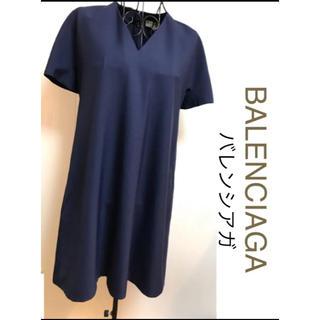 バレンシアガ(Balenciaga)のBALENCIAGAバレンシアガシンプル ワンピース36サイズ(ひざ丈ワンピース)