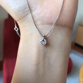 エステルドバルローズ(ESTELLE DE VALROSE)の朱美様専用❣️定価25万ぐらい、0.73ct 天然ダイヤモンドネックレス(ネックレス)