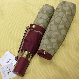 コーチ(COACH)の新品 COACH ワンプッシュ 折りたたみ傘 アウトレット コーチ(傘)