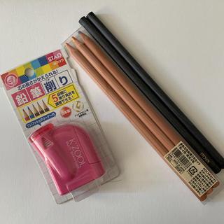 ムジルシリョウヒン(MUJI (無印良品))の多色芯色鉛筆5本セット&鉛筆削り(色鉛筆)
