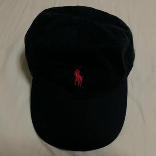 ポロラルフローレン(POLO RALPH LAUREN)のポロラルフローレン  黒 ロゴキャップ(キャップ)