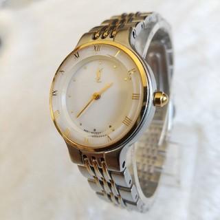 サンローラン(Saint Laurent)のイヴサンローラン 腕時計 美品レディースクォーツ(腕時計)