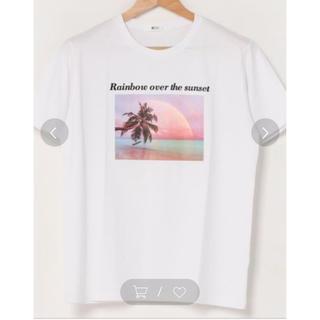 ウィゴー(WEGO)のWEGO カラーレインボーフォトプリントTシャツ♡M(Tシャツ(半袖/袖なし))