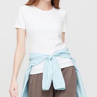 ユニクロ(UNIQLO)のエアリズムコットンリブブラTシャツ(Tシャツ(半袖/袖なし))
