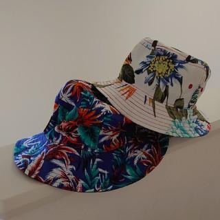 2OZキッズボタニカル柄帽子58cm2個セットマルイ双子男の子女の子(帽子)