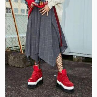 パメオポーズ(PAMEO POSE)のPAMEO POSE チェック スカート(ひざ丈スカート)