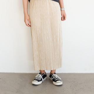 アンティローザ(Auntie Rosa)のミニプリーツスカート(ロングスカート)