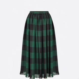 クリスチャンディオール(Christian Dior)のDIOR チェックスカート(ロングスカート)