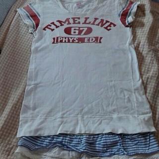 デニムダンガリー(DENIM DUNGAREE)のデニム&ダンガリー 半袖裾レースワンピース(ワンピース)