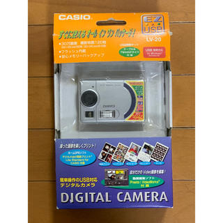 カシオ(CASIO)のCASIO LV-20 SR デジタルカメラ USB対応(コンパクトデジタルカメラ)