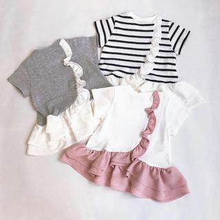 プティマイン(petit main)のプティマイン 130 バックフリルペプラムTシャツ(Tシャツ/カットソー)
