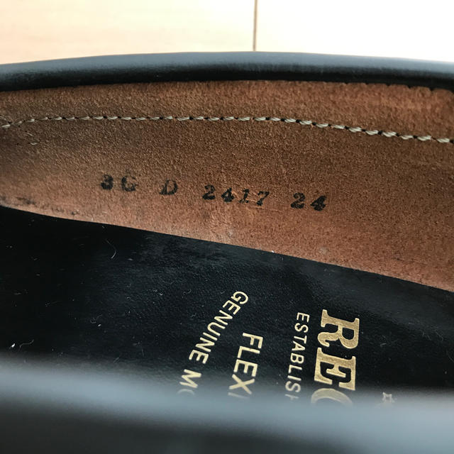 REGAL(リーガル)のリーガル ブラック 24㎝ 未使用 レディースの靴/シューズ(ローファー/革靴)の商品写真