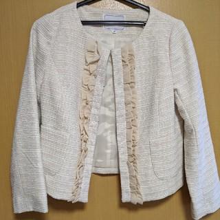 クチュールブローチ(Couture Brooch)のツイード ノーカラージャケット(ノーカラージャケット)
