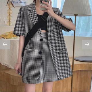 スタイルナンダ(STYLENANDA)の韓国ファッション♡チェックセットアップ♡お値下げ(セット/コーデ)