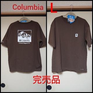 コロンビア(Columbia)の★完売品★コロンビア メンズ Tシャツ ビッグシルエット ブラウン L(Tシャツ/カットソー(半袖/袖なし))