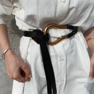 ビューティアンドユースユナイテッドアローズ(BEAUTY&YOUTH UNITED ARROWS)のBuckle belt BLACK No.452(ベルト)