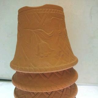 三河焼チューリップ柄浮き彫り7号お買い得3枚セット(プランター)
