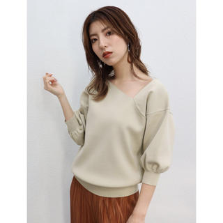 ムルーア(MURUA)のイレギュラーネックプルオーバー(Tシャツ(長袖/七分))