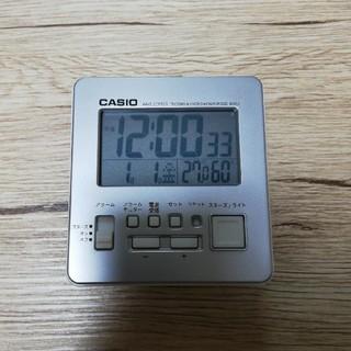 カシオ(CASIO)の【新品・未使用】CASIO 電波時計(切り替え可)温度・湿度表示、アラーム(置時計)