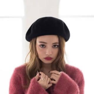 グレイル(GRL)の【未使用】ウールベレー帽 黒(ハンチング/ベレー帽)