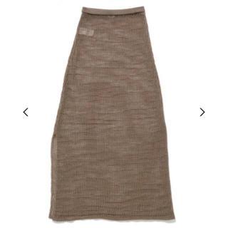 ハイク(HYKE)の今期購入 AURALEE オーラリー メッシュニットスカート(ロングスカート)