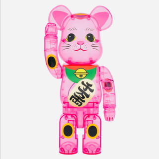 メディコムトイ(MEDICOM TOY)のbe@rbrick 400% 招き猫 桃色透明 ソラマチ店限定(フィギュア)