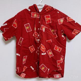 ピンクハウス(PINK HOUSE)の【ピンクハウス】クマワッペン柄フード付きシャツ(シャツ/ブラウス(長袖/七分))