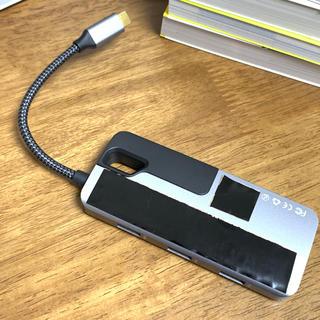 イーサネット付き USB-Cハブ 4K HDMI USB-C PD充電(PC周辺機器)