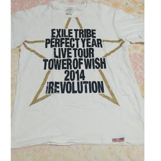 エグザイル トライブ(EXILE TRIBE)のEXILE TRIBEPERFECT YEAR 2014白ティシャツ(音楽/芸能)