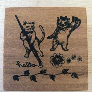 フェリシモ(FELISSIMO)のPEKOさん専用フェリシモスタンプ「猫」「熊」(印鑑/スタンプ/朱肉)